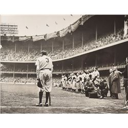 Babe Ruth Photograph Signed by Nat Fein