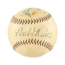 Babe Ruth, Lou Gehrig and Herb Pennock Signed Baseball