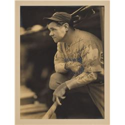 Babe Ruth Signed and Inscribed George Burke Type 1 Photograph