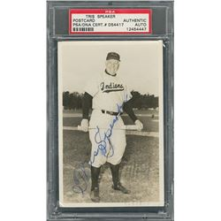 Tris Speaker Signed Photograph