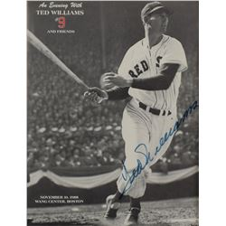 Ted Williams Signed Program