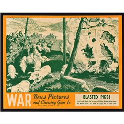 1939 War News Pictures Window Display with Card