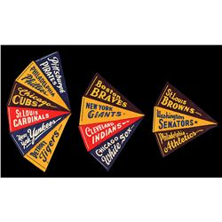 1940s Vintage Mini Pennants Collection with New York Yankees and Boston Braves
