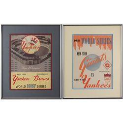 New York Yankees Pair of World Series Programs
