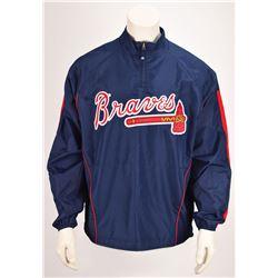 Tom Glavine's Game-Worn 2008 Atlanta Braves Cool Base Jacket