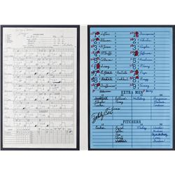 Tom Glavine's Game-Used Pitching Chart Prepared by Greg Maddux