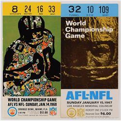 Super Bowl I and II Ticket Stubs