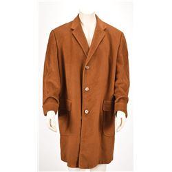 Vince Lombardi's 1966 Brown Wool Topcoat