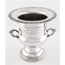 Curly Lambeau 1929 Green Bay Packers Undefeated Championship Trophy