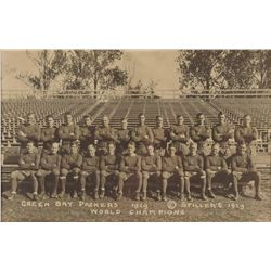Green Bay Packers 1929 Championship Team Photograph