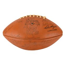 Green Bay Packers 1972-73 Team-Signed Football
