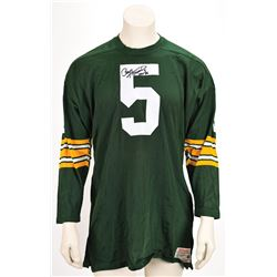 Paul Hornung Signed Jersey and Photograph