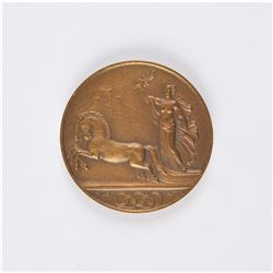 St. Moritz 1928 Winter Olympics Bronze Participation Medal