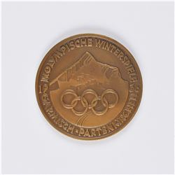 Garmisch 1936 Winter Olympics Bronze Participation Medal