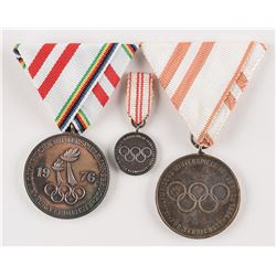 Innsbruck 1964 and 1976 Winter Olympics Group of (3) Volunteer Medals