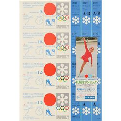 Sapporo 1972 Winter Olympics Ticket Group Lot
