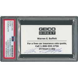 Warren Buffett Signed Business Card