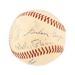Mercury Seven Signed Baseball