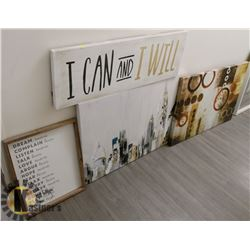BUNDLE OF MOTIVATIONAL/ ARTISTIC WALL ART
