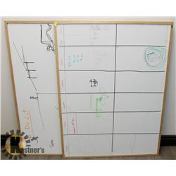 LOT OF TWO WHITE BOARDS