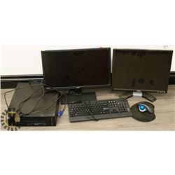 "INTEL i3 DESKTOP COMPUTER WITH 22"" BENQ"