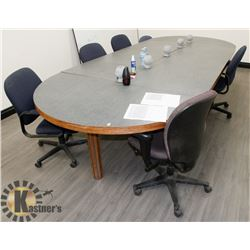 BOARDROOM TABLE WITH 6 CHAIRS