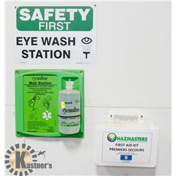 EYEWASH STATION AND FIRST AID KIT