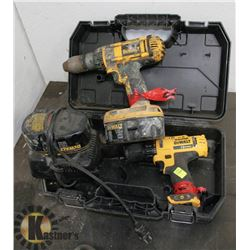 DEWALT 18V DRILL WITH TWO BATTERIES, CHARGER