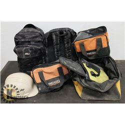 BUNDLE OF EMPTY TOOL BAGS