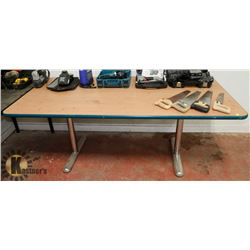 CHROME LEG WORK TABLE