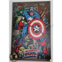 CAPTAIN AMERICA STRETCHED CANVAS WALL ART