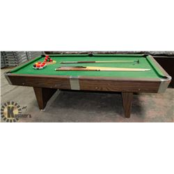 NATIONAL POOL TABLE WITH BALLS