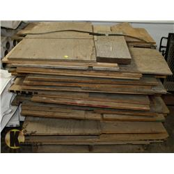 PALLET OF ASSORTED SIZED LUMBER AND PLYWOOD