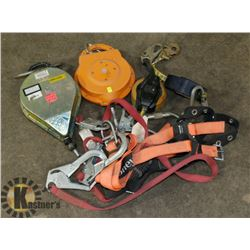 LARGE LOT OF FALL ARREST EQUIPMENT