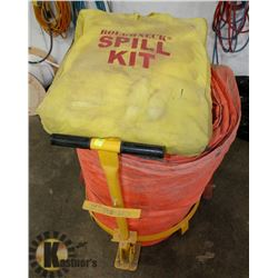 SPILL KIT WITH LARGE TARP ON DOLLY