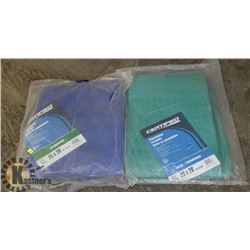 LOT WITH TWO 20' X 28' POLYETHYLENE TARPAULINS