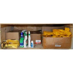 SHELF OF CHEMICALS, MARINE SHRINK VENTS,