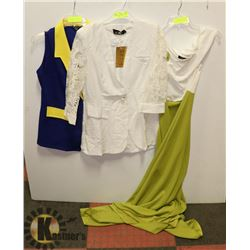 LOT OF 2 NEW WOMENS XL TOPS AND 1 XL DRESS.