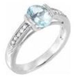 Aqua Marine and Diamond Ring (back up bidder, optional)