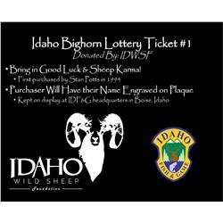 Idaho Wild Sheep Foundation Idaho Bighorn Lottery #1
