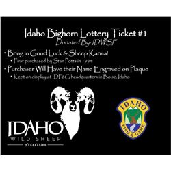 Idaho Wild Sheep Foundation Idaho Bighorn Lottery #1