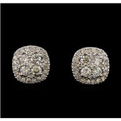 2.20 ctw Diamond Earrings - 14KT White Gold