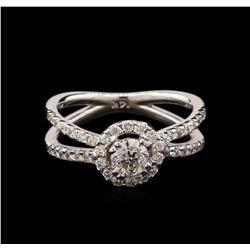 1.05 ctw Diamond Ring - 14KT White Gold