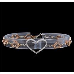 0.86 ctw Diamond Bracelet - 14KT Two-Tone Gold