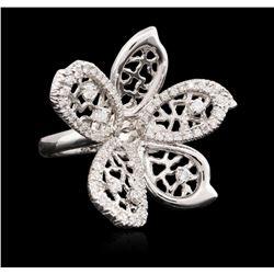 14KT White Gold 0.80 ctw Diamond Ring