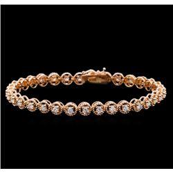 1.83 ctw Diamond Tennis Bracelet - 14KT Rose Gold