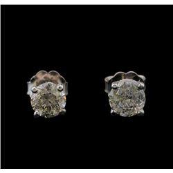 14KT White Gold 1.04 ctw Diamond Stud Earrings