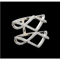 0.73 ctw Diamond Ring - 18KT White Gold