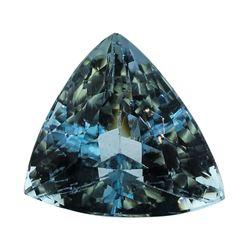 5.02 ct.Natural Trilliant Cut Aquamarine
