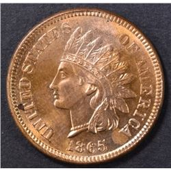 1865 INDIAN CENT CH/GEM BU RED